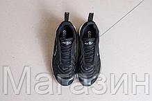 Мужские спортивные кроссовки Nike Air Max 720 Black / Ftr White (Найк Аир Макс 720) черные с белым, фото 3