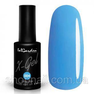 Гель лак INGARDEN X-GEL (насыщенно-голубой) № 004, 8 мл
