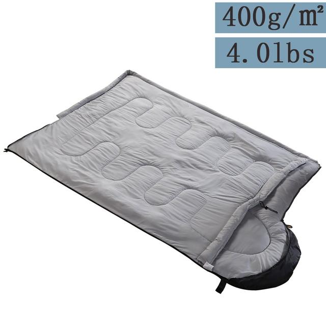 Спальный мешок  4 сезона водонепроницаемый серый