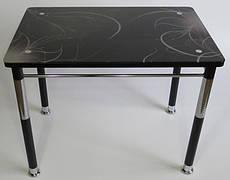 Стол кухонный на металлических ножках со стеклянной столешницей Камилла нераздвижной премьер 2 Eurostek