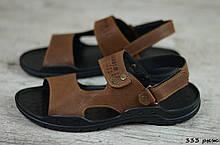 Мужские кожаные сандалии Cardio  (Код: 333 рыж ) ► [40,42,43,44,45]