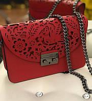 Сумка Италия , Итальянские кожаные сумки в стиле Фурла Коралловый