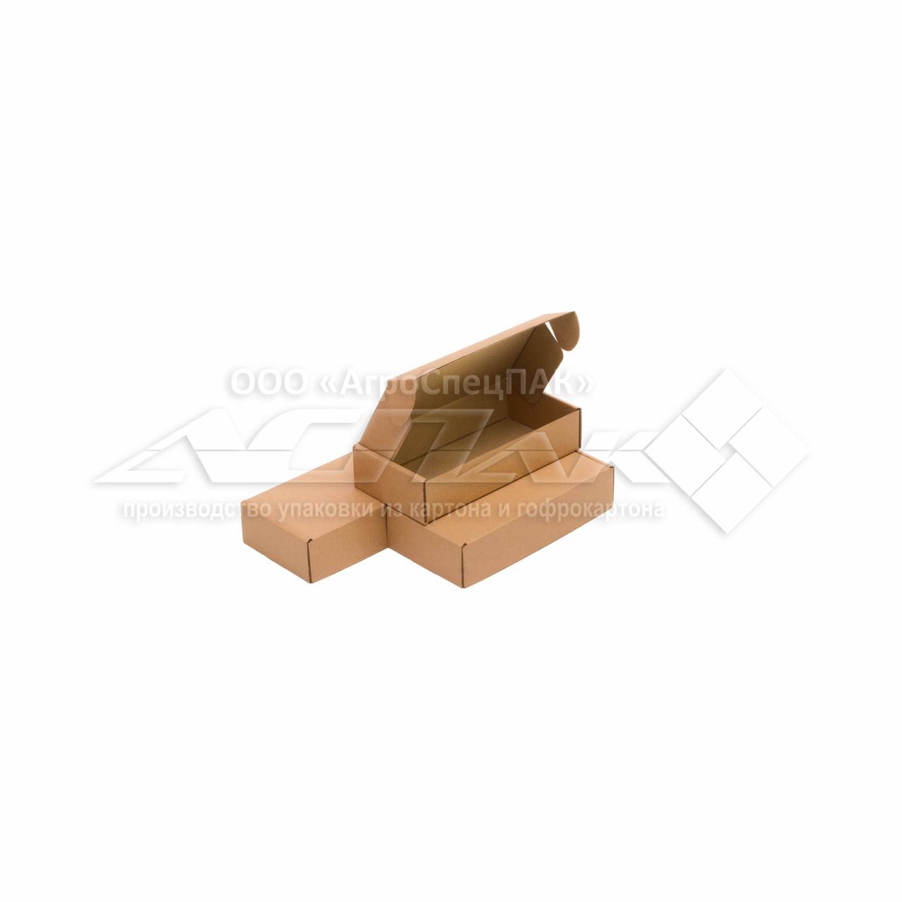 Картонные коробки самосборные 200х100х45 бурые