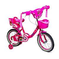 Дитячий велосипед Disney Girls Pink 16 з музикою і світлом, фото 1