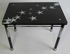 Стол кухонный на металлических ножках со стеклянной столешницей Камилла нераздвижной премьер 4 Eurostek