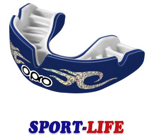 Капа боксерская OPRO Power-Fit Bling-Urban Series Dark Blue/White