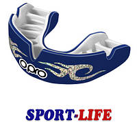 Капа боксерская OPRO Power-Fit Bling-Urban Series Dark Blue/White, фото 1