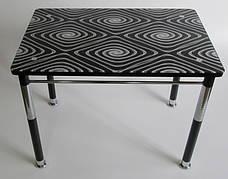 Стол кухонный на металлических ножках со стеклянной столешницей Камилла нераздвижной премьер 5 Eurostek
