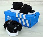 Мужские сандалии Adidas (черные) - Унисекс, фото 5