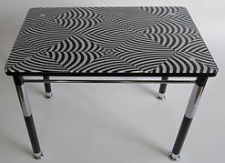 Стол кухонный на металлических ножках со стеклянной столешницей Камилла нераздвижной премьер 6 Eurostek