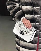 Купить кожаную итальянскую сумку , Итальянские кожаные сумки копия Фурла Белый клатч, фото 1