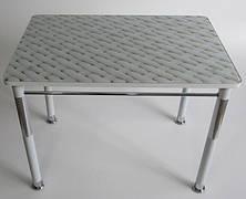 Стол кухонный на металлических ножках со стеклянной столешницей Камилла нераздвижной премьер 7 Eurostek