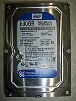 """Жёсткий диск, HDD Western Digiital 3.5"""" 500GB SATA 16MB/7200prm  Б/У"""