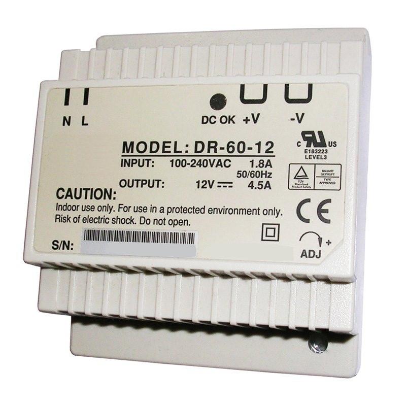 Блок питания на DIN-рейку DR-60-12 60вт, 12в, 4,5А
