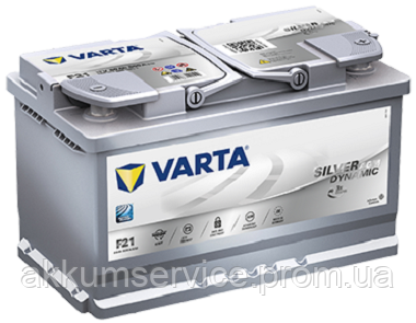 Аккумулятор автомобильный VARTA START-STOP PLUS 80AH R+ 800A (F21) AGM