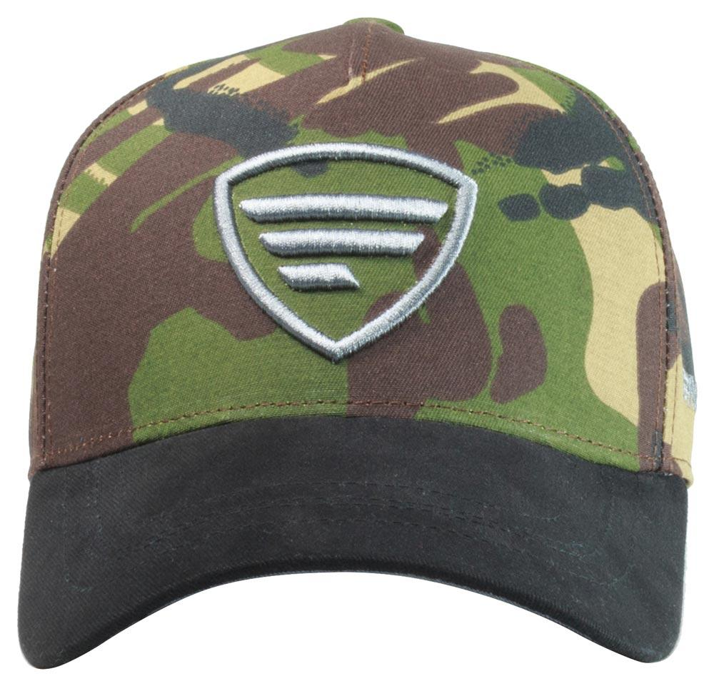Бейсболка Favorite камуфляж с серым логотипом