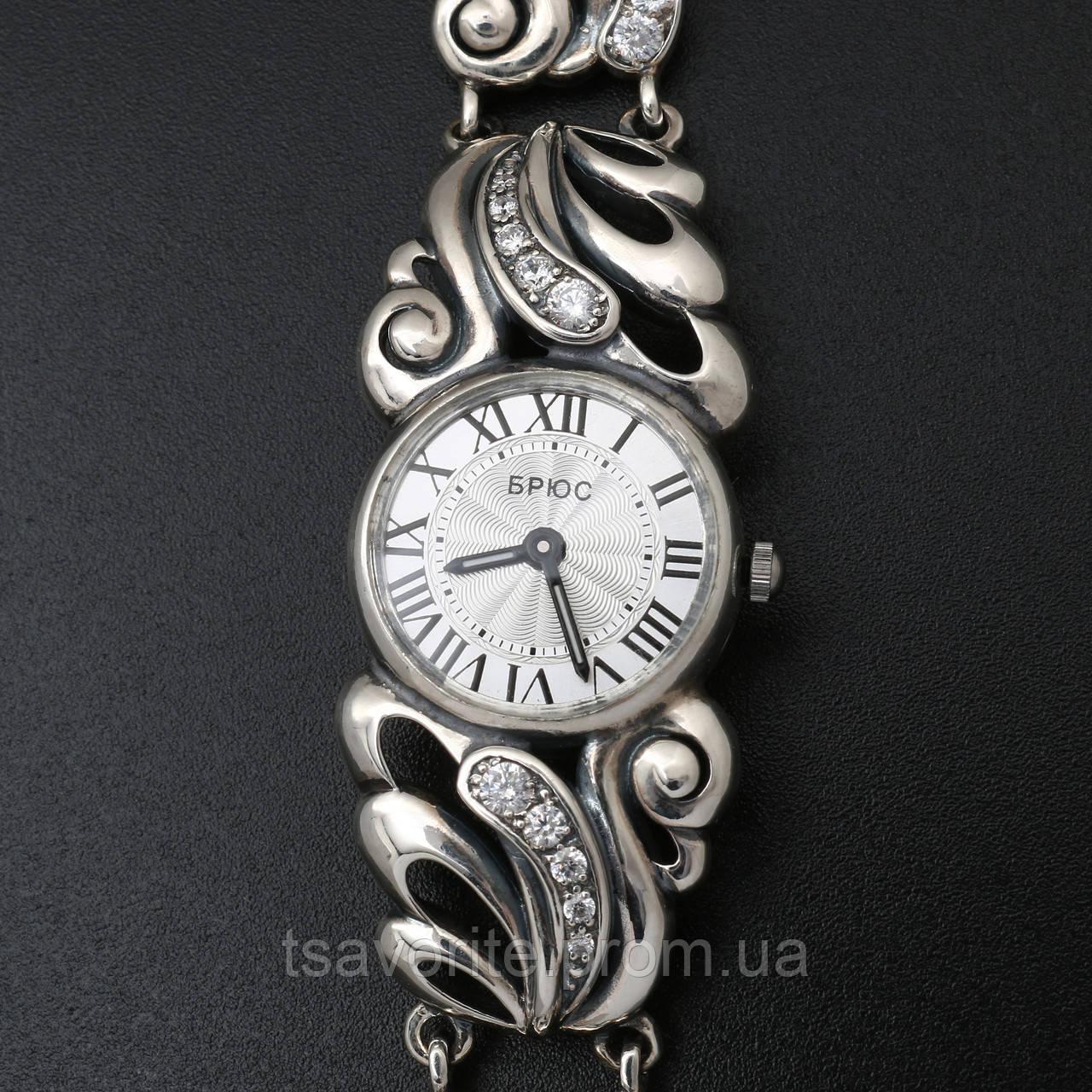 Женские серебряные часы 0531