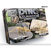 Игровой набор Раскопки DINO EXCAVATION динозавры рус. Danko Toys DEX-01-01 в ассортимете