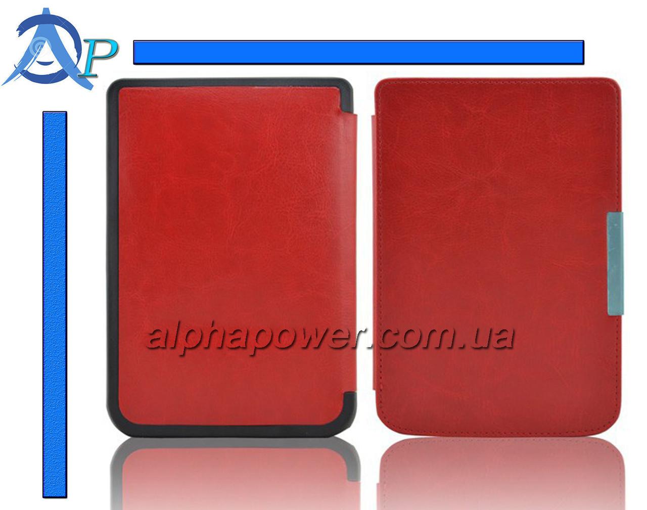Обложка (чехол) для электронной книги PocketBook Touch 622 / Touch Lux 623  красный