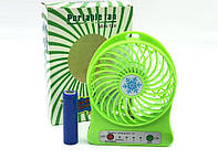 Вентилятор аккумуляторный настольный F95B, фото 1