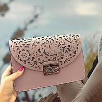 Женская кожаная сумка клатч , Итальянские кожаные сумки реплика Фурла Пудра
