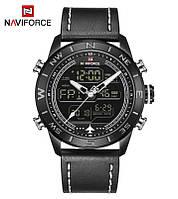 Мужские часы Naviforce Strike 9144 Black, Гарантия 12 мес.