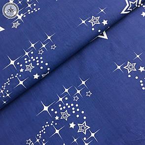"""Бязь Gold хлопковая """"синее созвездие на нежно голубом"""", фото 2"""