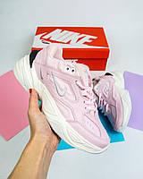 """Кроссовки женские M2K текно розовые демисезонные кожа (реплика) Nike M2K Tekno """"Pink"""""""