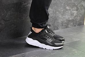 Кроссовки мужские найк хуарачи черно-белые повседневные (реплика) Nike Huarache Black White 42