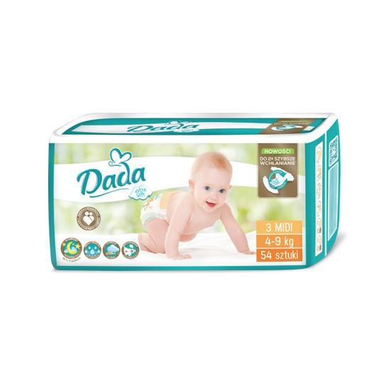 Подгузники Dada Extra Soft 3 (4-9 кг), 54шт