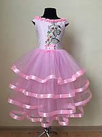 Сукня сарафан рожева для дівчинки розміри в наявності від 3 до 10 років