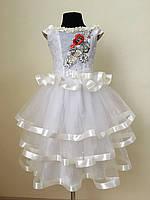 Сукня сарафан біла для дівчинки розміри в наявності від 3 до 10 років