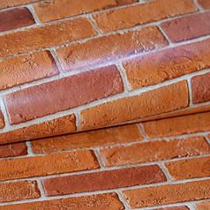 Обои, обои на стену, влагостойкие бумажные, 86-05, кирпич красный, 0,53*10м