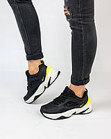 Кроссовки женские Nike М2K Tekno черные с белым ТОП реплика, фото 1