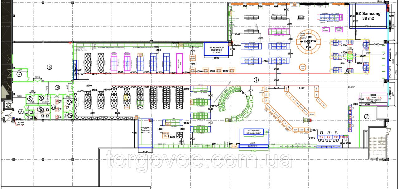 Адаптация и просчет торгового оборудования под готовые дизайн проекты магазинов любой сложности и форматов, фото 1