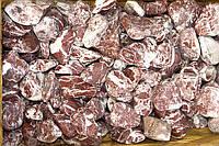 Галька мраморная красная с белыми прожилками (греческая)