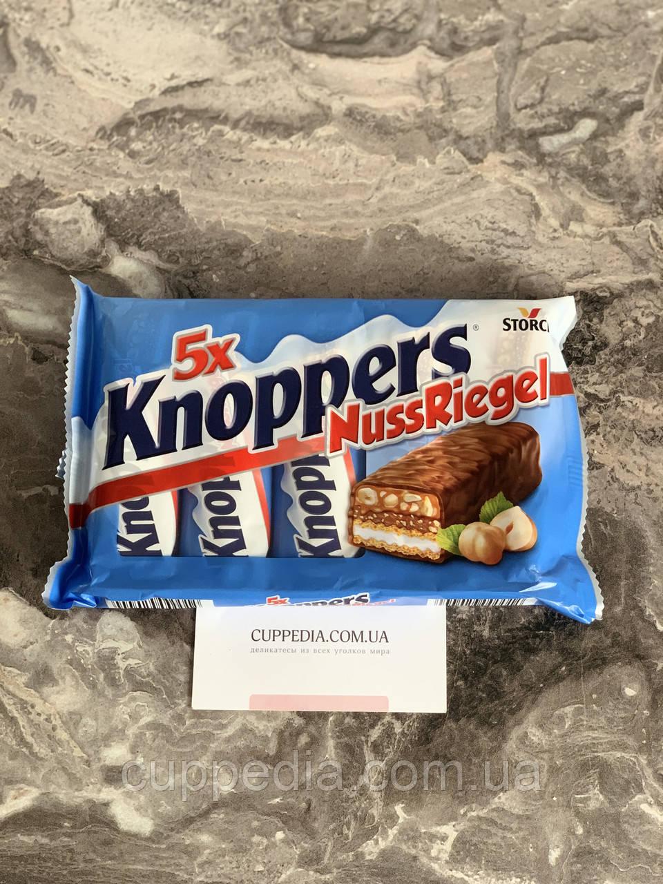 Шоколадні батончики Knoppers Nuss Riegel 200 гр