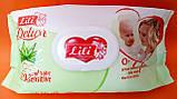Влажные салфетки детские Lili Delux  120 штук с клапаном, фото 2