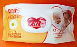 Влажные салфетки детские Lili Delux  120 штук с клапаном, фото 3