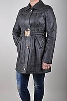 Женская деми кожаная куртка. 50-52 р.