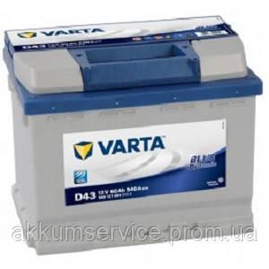 Аккумулятор автомобильный VARTA BLUE DYNAMIC 60AH L+ 540A (D43)