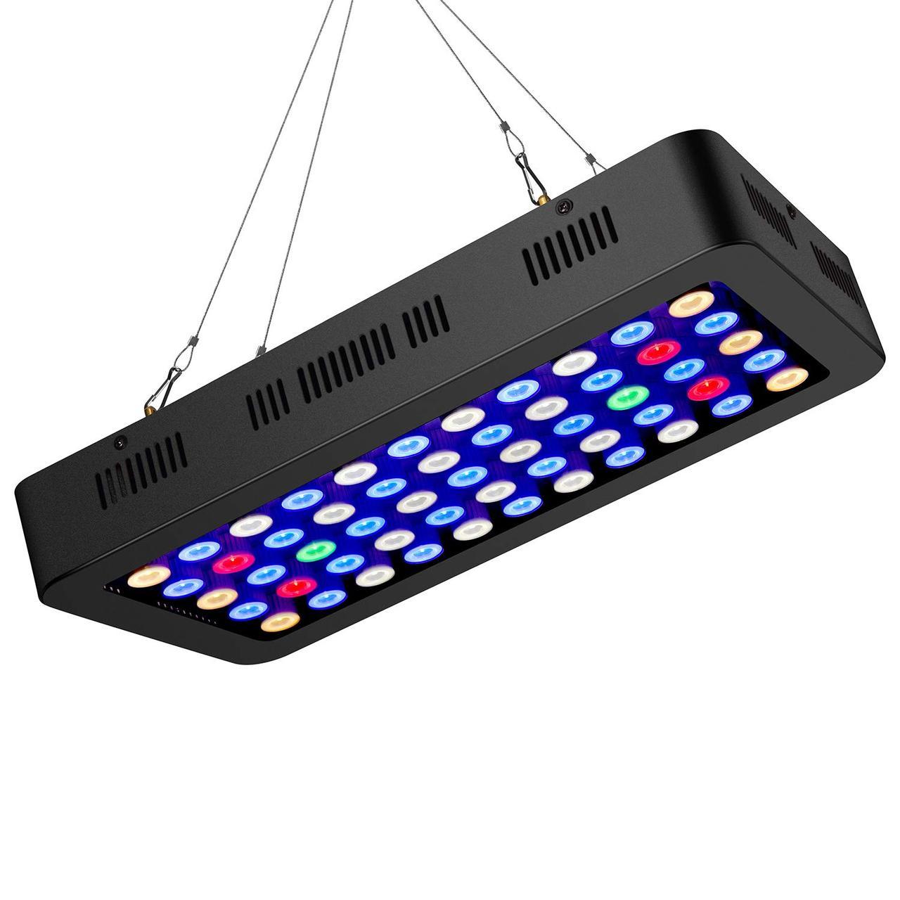 Светодиодный светильник для аквариума ZXMEAN 165W LED для пресноводных и морских рыб коралловых рифов