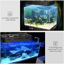 Светодиодный светильник для аквариума ZXMEAN 165W LED для пресноводных и морских рыб коралловых рифов , фото 3