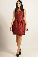 """Кокетливое платье """"Роузи"""" красное с изумительным принтом из роз"""