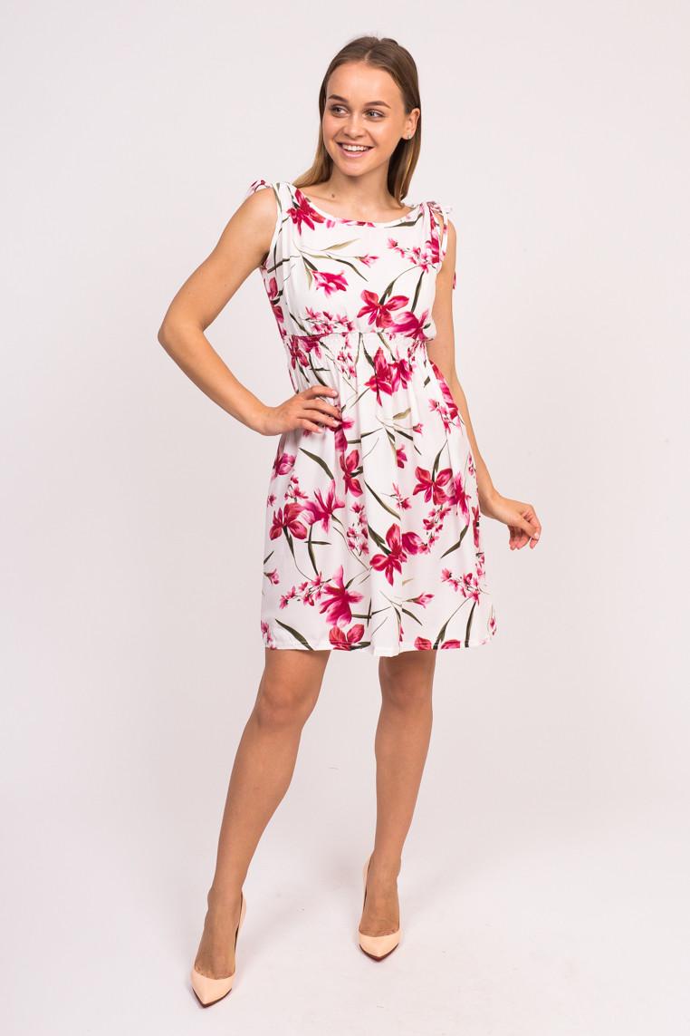 Короткое летнее платье LUREX - белый цвет, S (есть размеры)