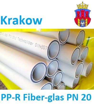 Полипропиленовая труба со стекловолокном 40 х 5,0 мм Krakow PP-R Fiber-glas PN 20, для отопления