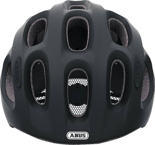 Велосипедний дитячий шолом ABUS YOUN-I M Velvet Black, фото 2