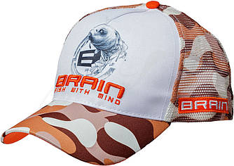 Кепка Brain Fish Logo Orange/Brown Camo