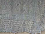 Шаль Ромбики ш-00441, цвет: светло-серый, оренбургский пуховый платок, фото 4
