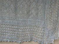 Шаль Ромбики ш-00421, цвет: нежно-голубой, оренбургский пуховый платок